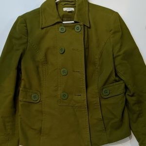 Ann Taylor Loft size large green courduroy jacket